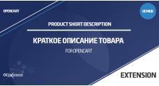 Краткое описание товара для OpenCart 3